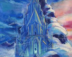 Frozen Castle by danidraws