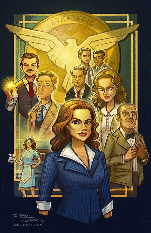 Agent Carter poster by danidraws