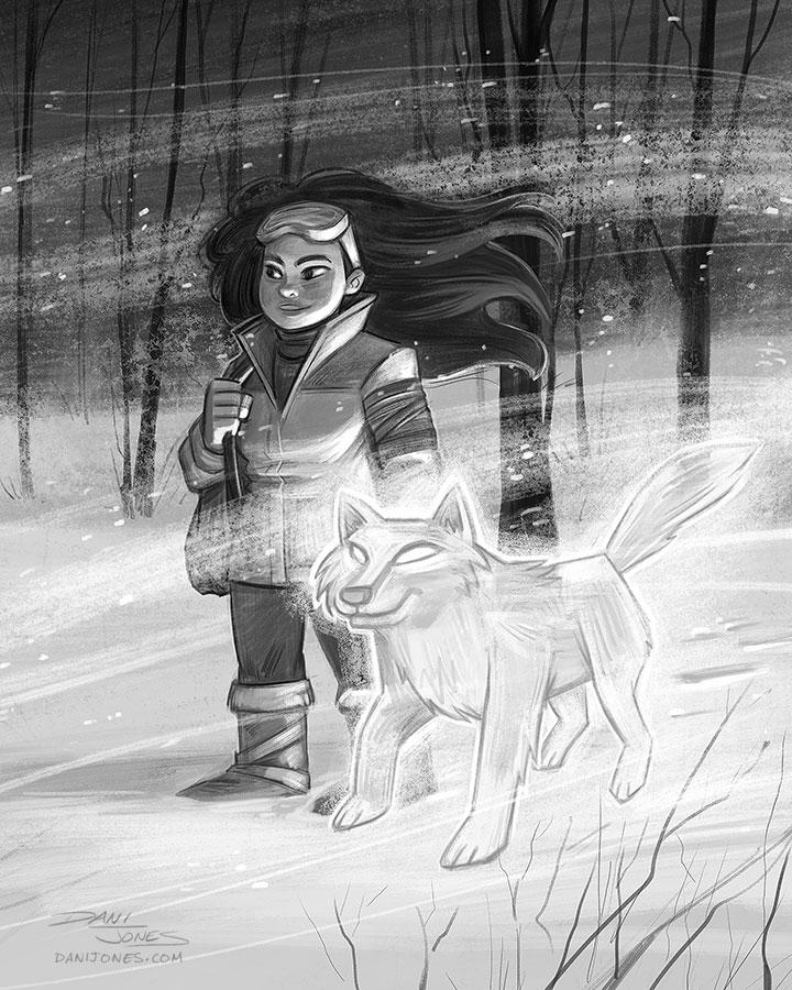 Winter Walk by danidraws