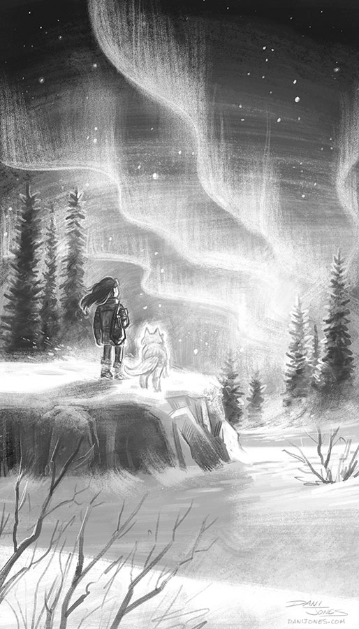 Aurora Borealis by danidraws