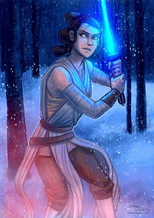 Rey by danidraws