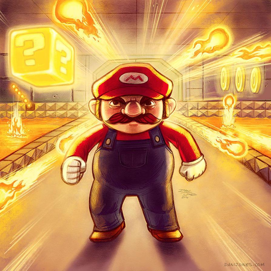 Dungeon Mario by danidraws