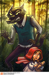 Girl Meets Wolf by danidraws