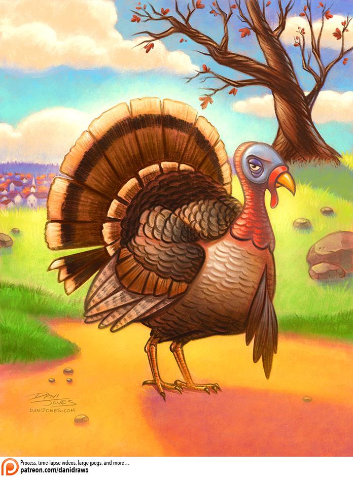 Portrait of a Turkey by danidraws