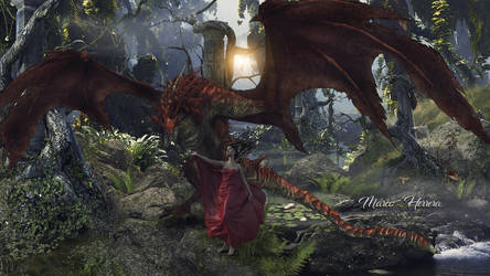 Queen Of Red Dragon by MarcoHerrera