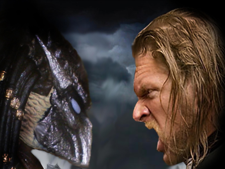 PREDATOR VS TRIPLE H By Darkness Man