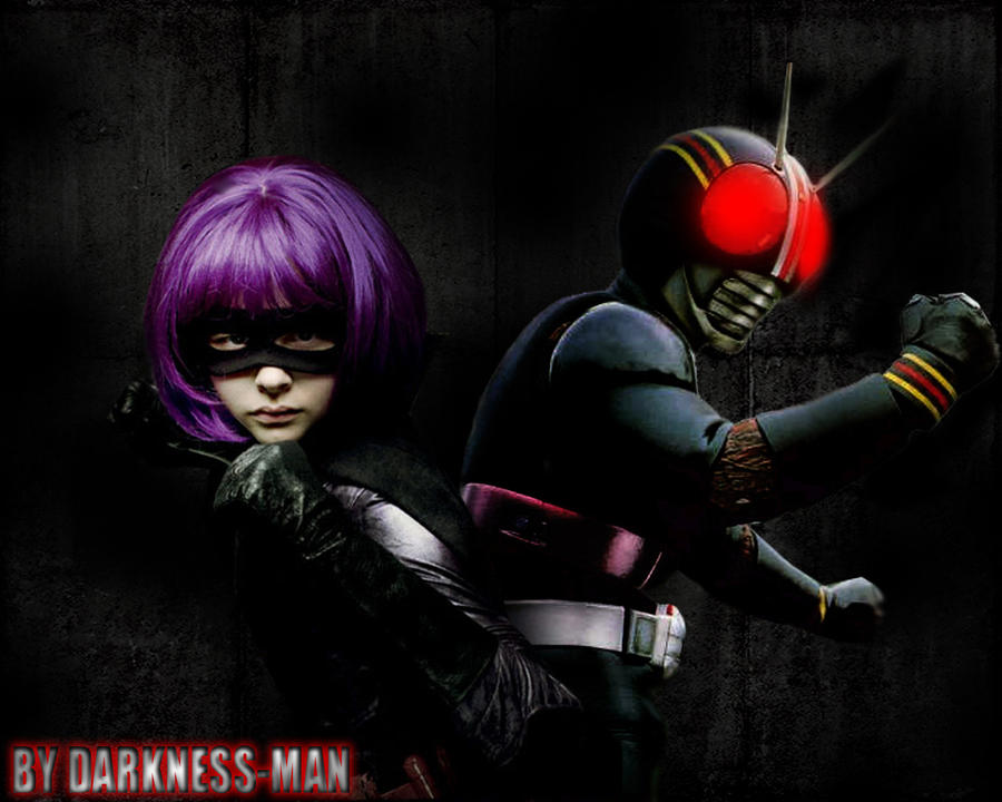 kamen rider black. HIT GIRL AND KAMEN RIDER BLACK