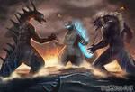 Godzilla vs Zarkorr and Kraa