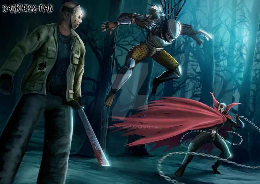 JASON VS PREDATOR VS SPAWN by Darkness-Man on DeviantArt