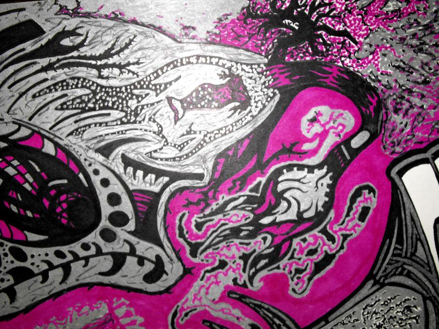 Sharpie flower by benjam6888 on DeviantArt Sharpie Art Flowers