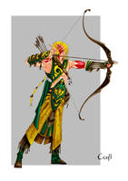 Elven Archer by grandanvil