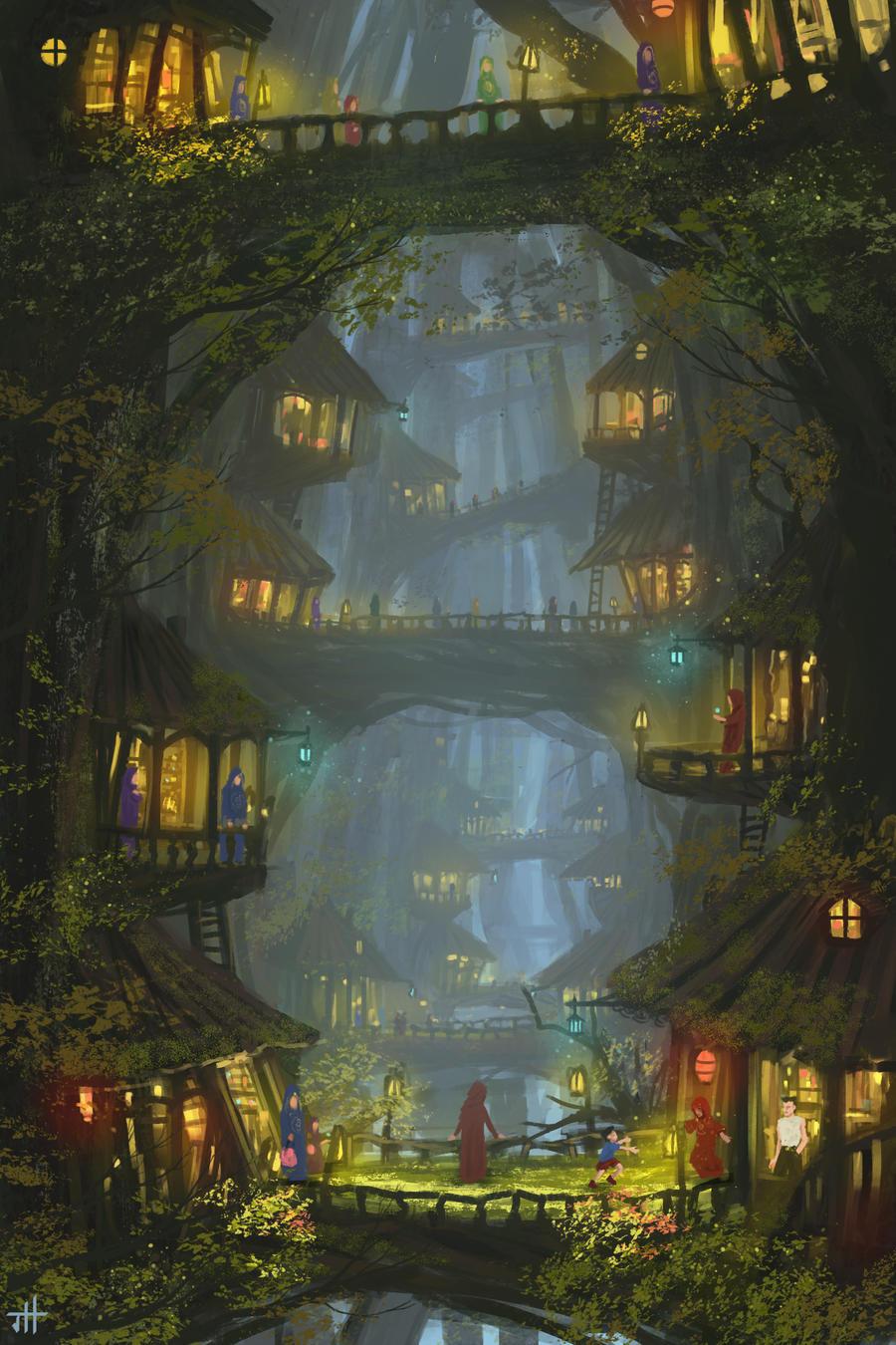 Tree village by JoshHutchinson