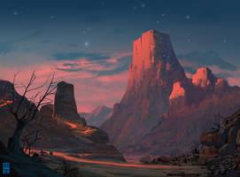 Starry Mountain by JoshHutchinson