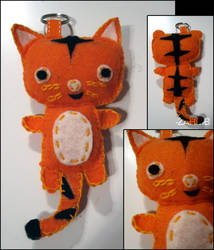 Plush Tiger Keychain by ZAHMB