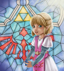 Young Zelda by Cloudyh
