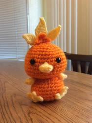 Torchic chibi crochet with PATTERN!!!!