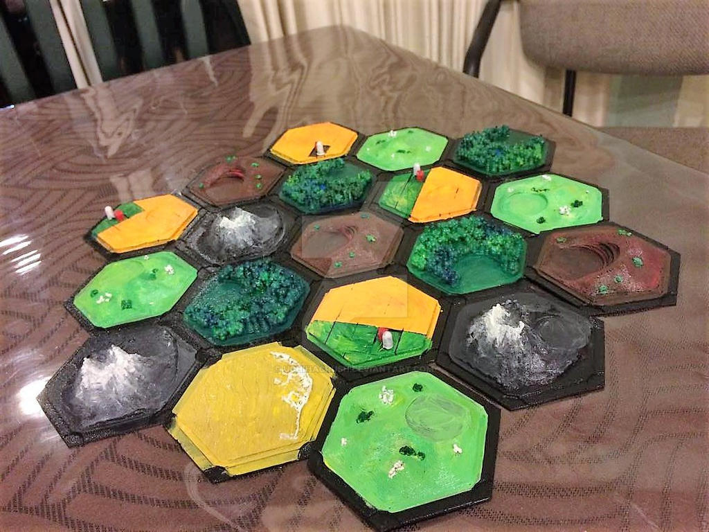 Catan 3D printed and painted by uchihacrush