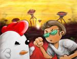WIFL - Billy vs. Chikn by hankinstein