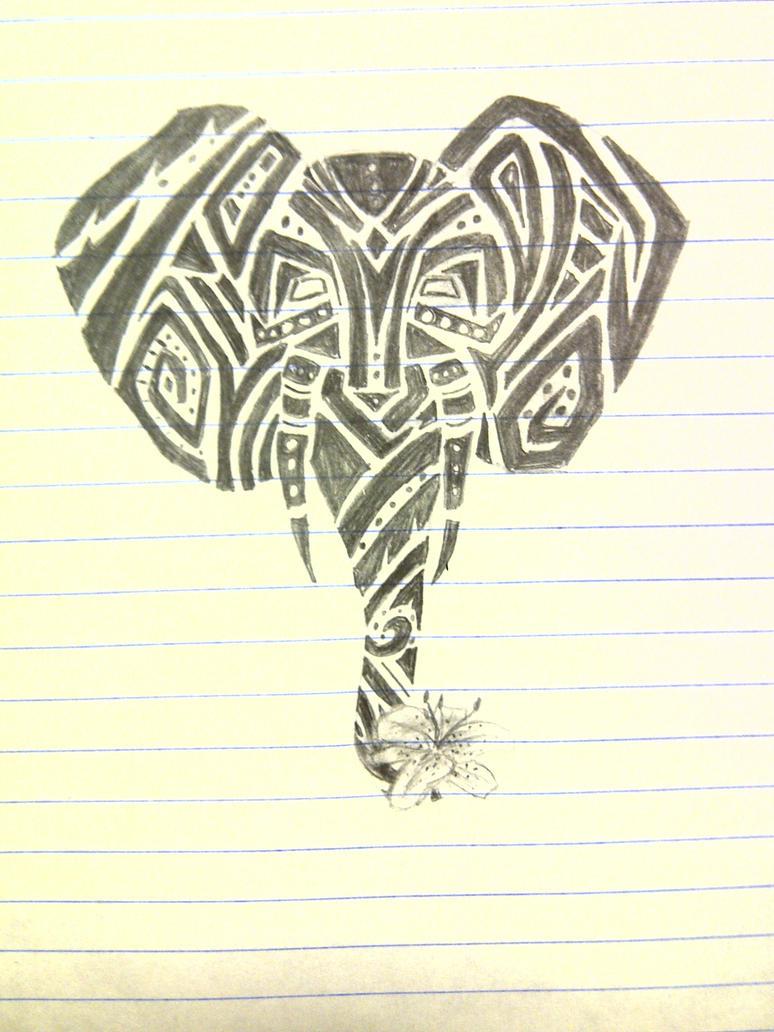 Tribal Elephant Tattoo by audtopia on DeviantArt