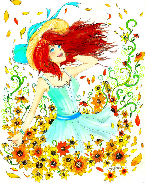 Sunflower Girl by Mirrei