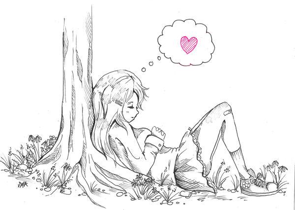 Dozing off by Mirrei
