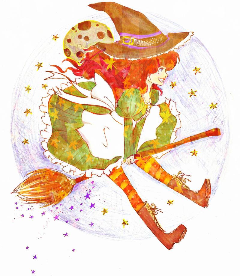 Halloween Witch by Mirrei
