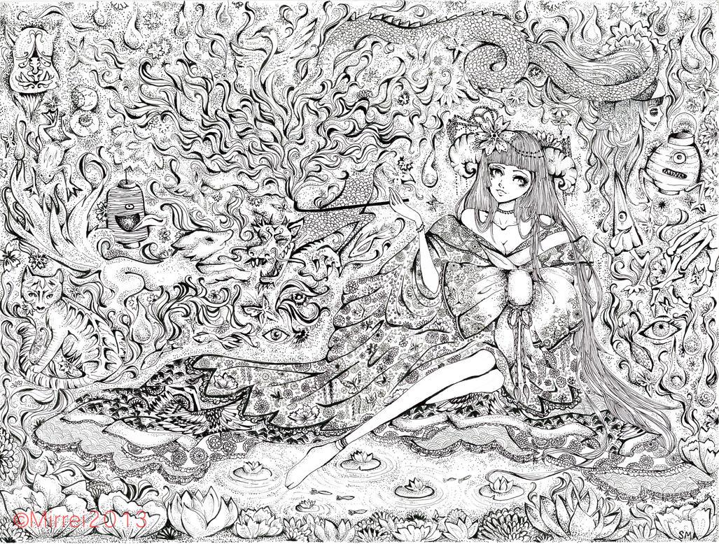Yokai Hime by Mirrei