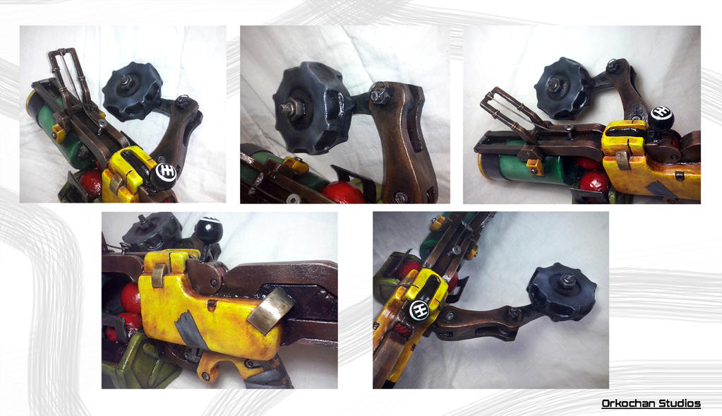 Lanza bombas Junkrat cosplay2 - Overwatch by Orkochan