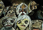 Goblins - The Labyrinth ACEO Sketch Card