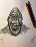 Sasquatch Ape Watercolor