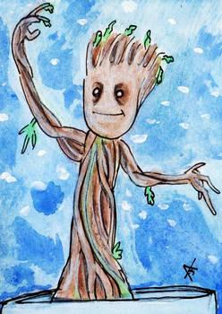 Baby Groot Sketch Card