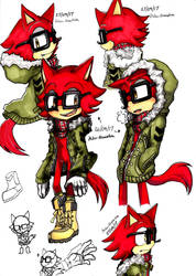 sonic forces Gadget Winter ver. promarkers by miko-maestra