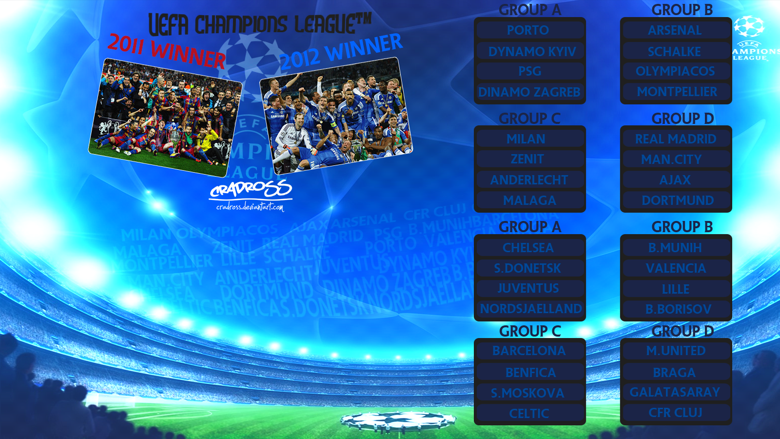 UEFA Champions League Group fixture by CradRoss on deviantART