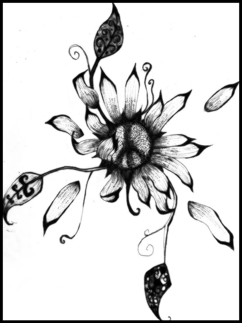 peace sunflower by kooohla