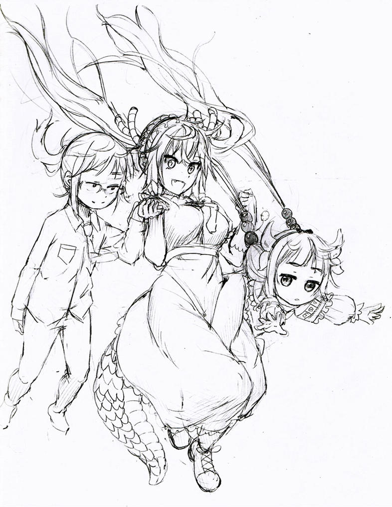 Kobayashi's Maid Dragon by GANG-MA