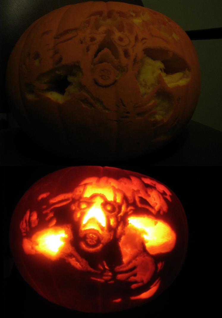 Psycho pumpkin by dark monarchy on deviantart