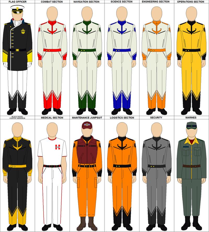 Space Battleship Yamato/StarBlazers Uniforms By Charyui On DeviantArt