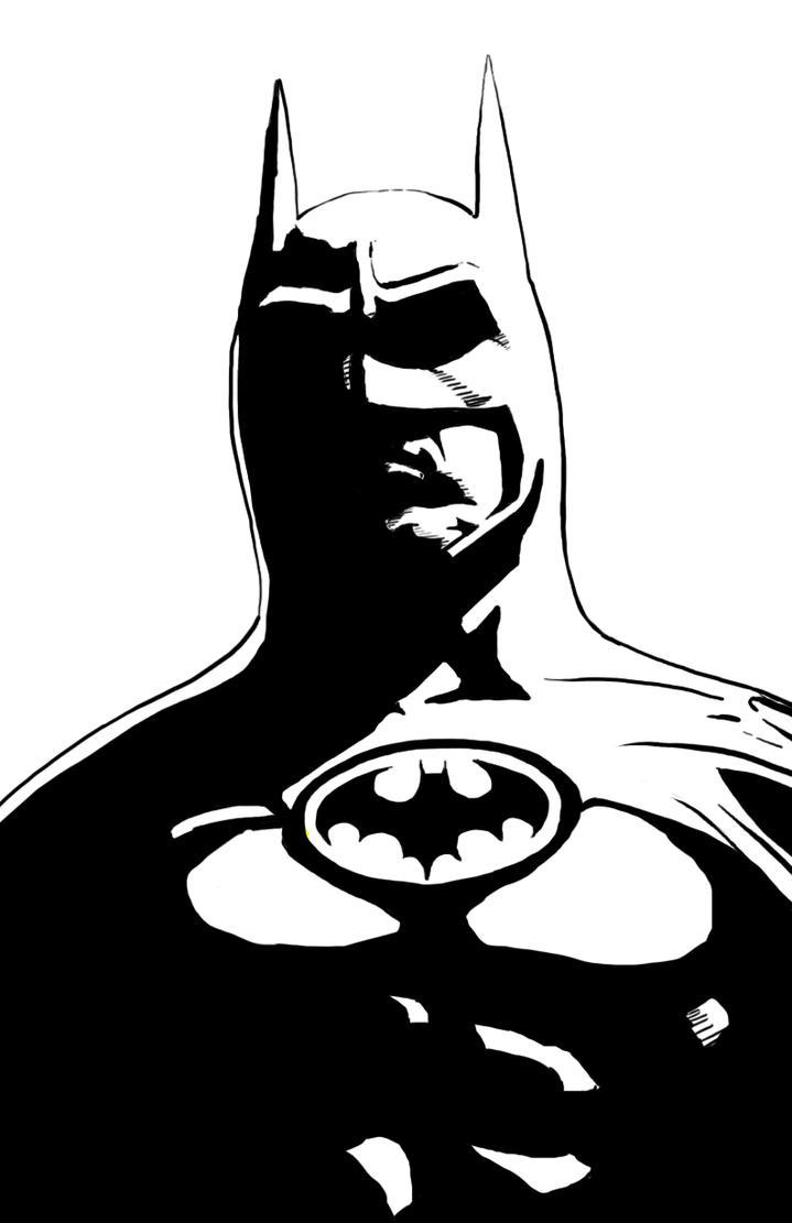 Keaton Batman Art