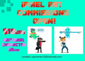 Pixel art Commissons by JoelKodama