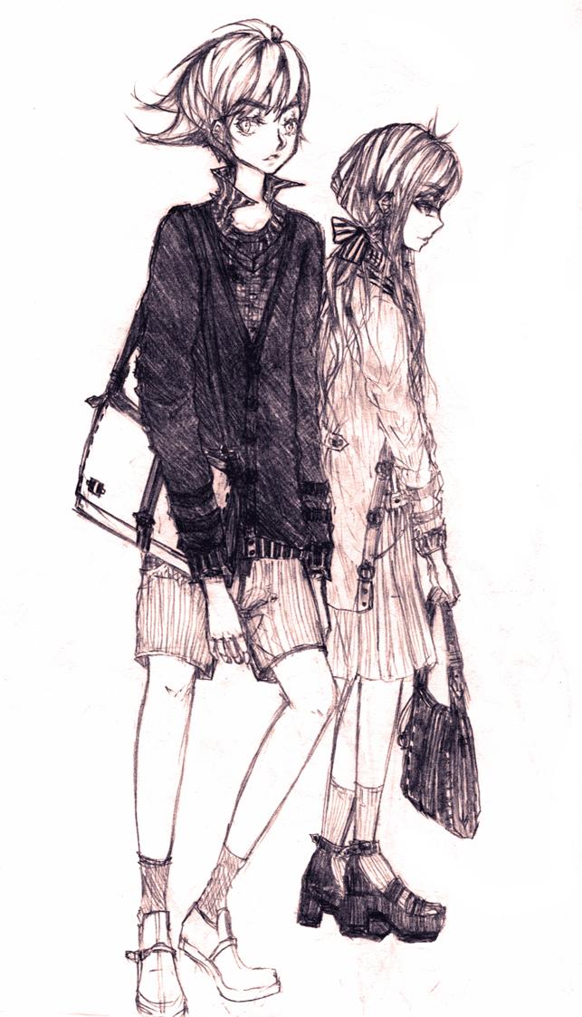 a boy and a girl by fuu-BANZAI