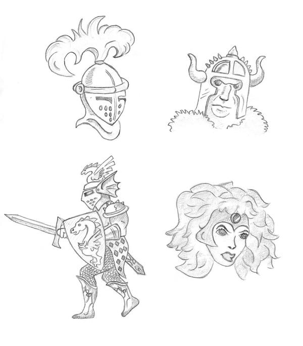 Medieval Warriors by Faelyne