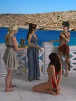 Aegean Scene by succubusart
