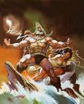 THE ARRIVAL OF KONAN by RAFAELGALLUR