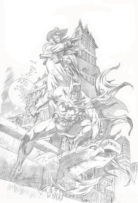 BATMAN AND SHADOW ( pencil)