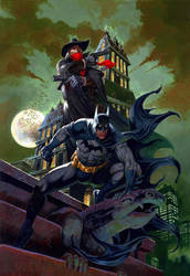 Batman And Shadow  by RAFAELGALLUR