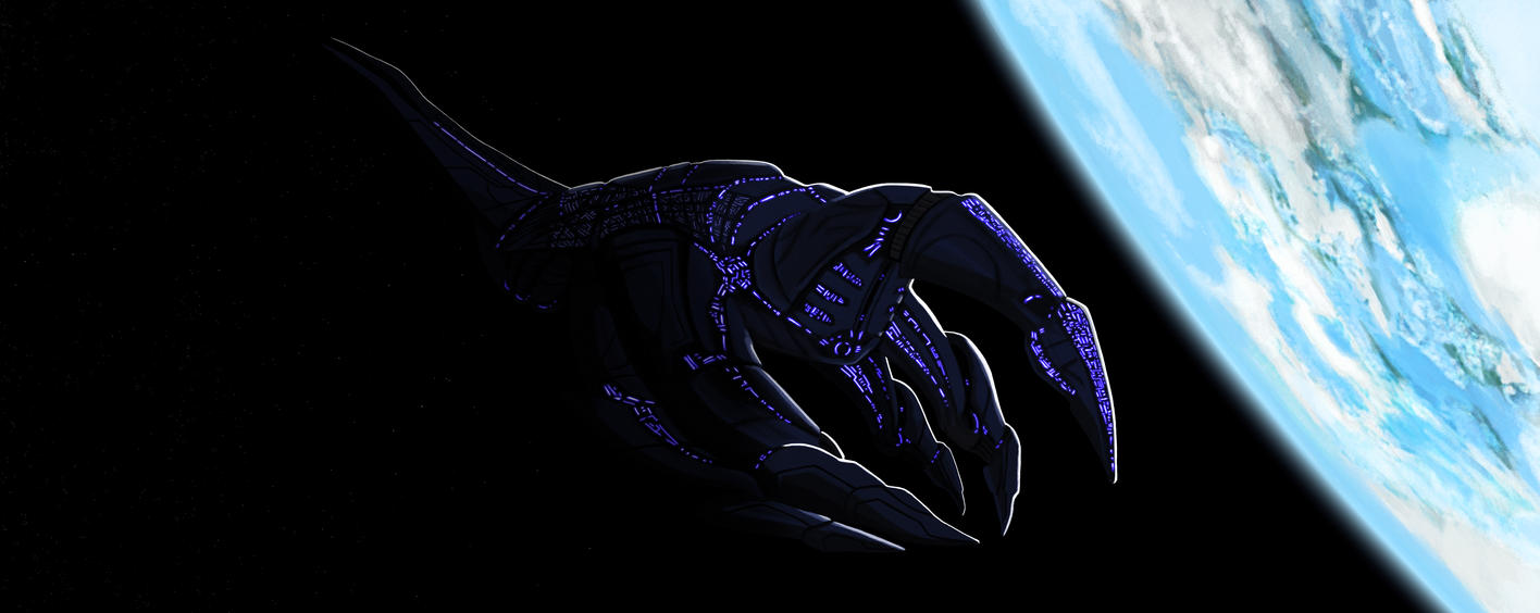 The Reapers arrive on Earth - Mass Effect by VICTORIA-Badwolf