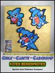 Garchomp Line (Beadsprites on canvas)