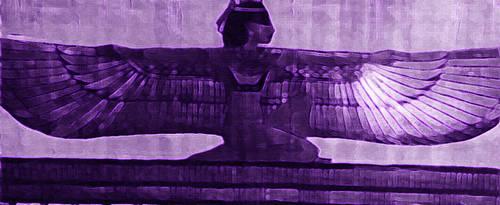 Designed-Purple-Maat-Papyrus by OmniSense