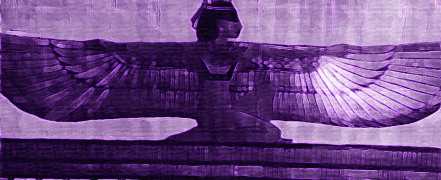 Designed-Purple-Maat-Papyrus by OmniSense