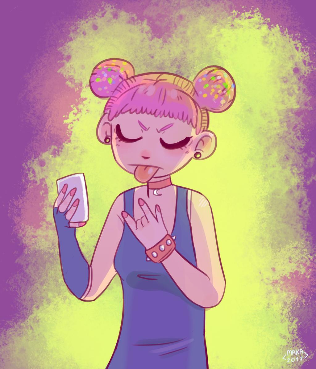 Pink punk OC by Makasplendor